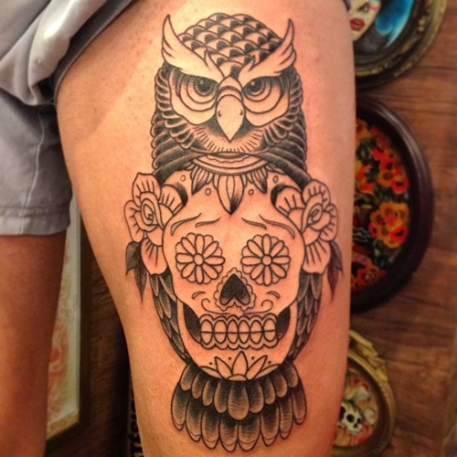 owl-and-skull tattoo-02