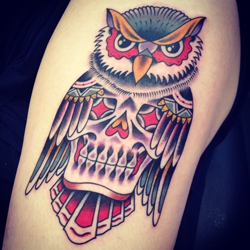 owl-and-skull tattoo-07