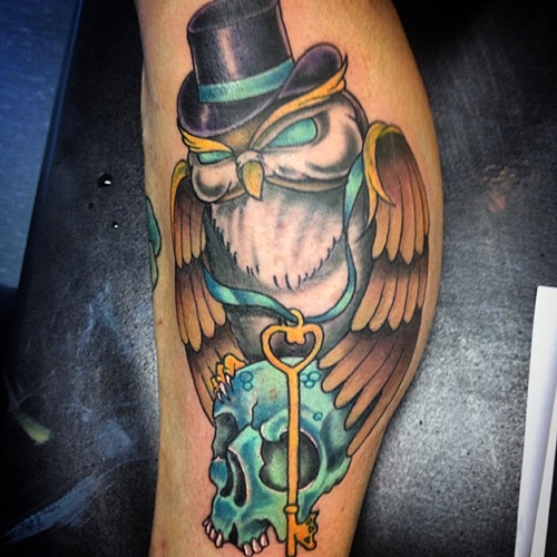 owl-and-skull tattoo-11