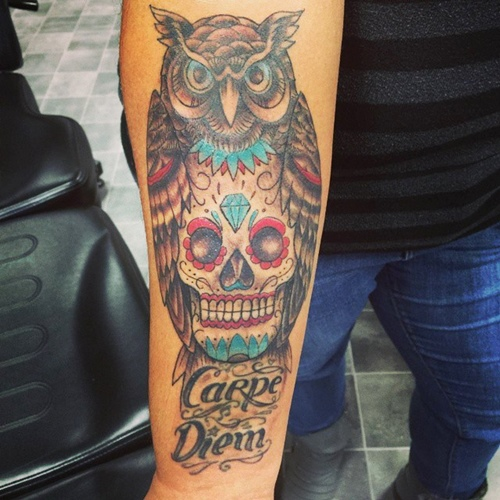 owl-and-skull tattoo-13