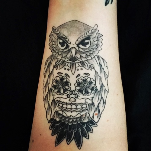 owl-and-skull tattoo-14