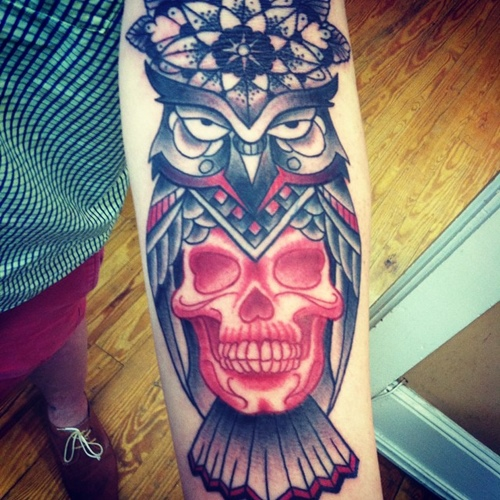 owl-and-skull tattoo-15