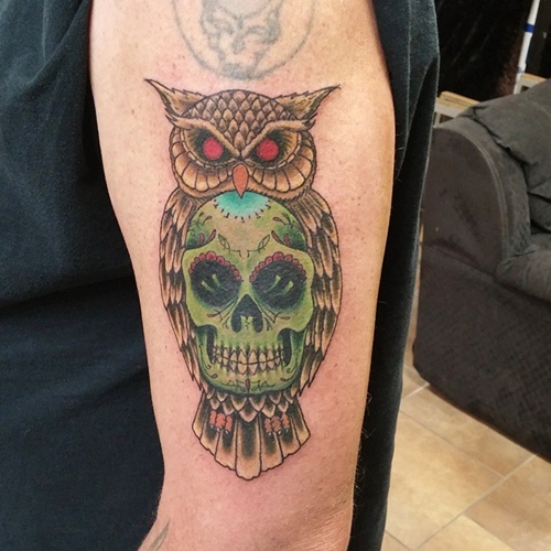 owl-and-skull tattoo-17