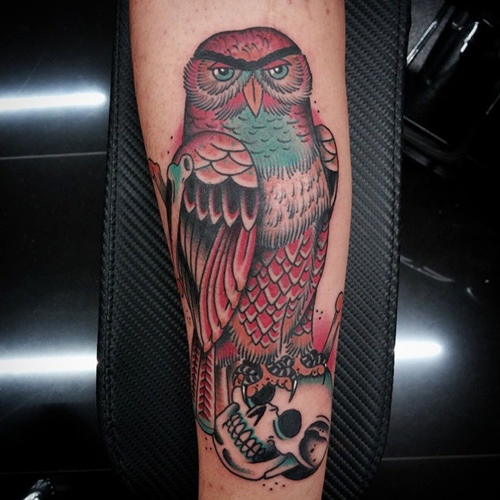 owl-and-skull tattoo-23