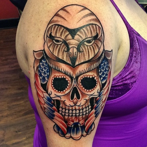owl-and-skull tattoo-24