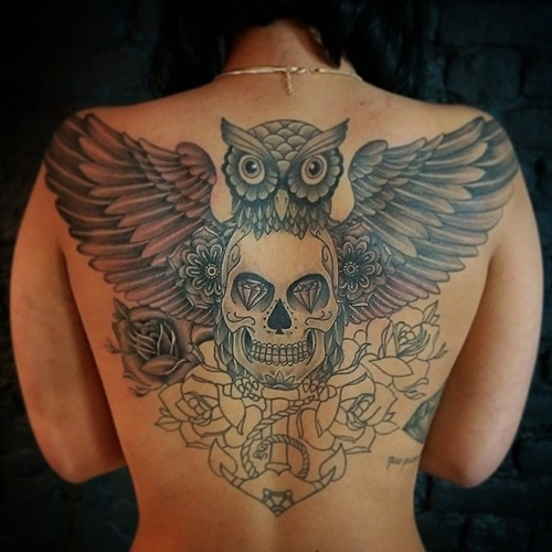 owl-and-skull tattoo-26
