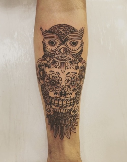 owl-and-skull tattoo-30