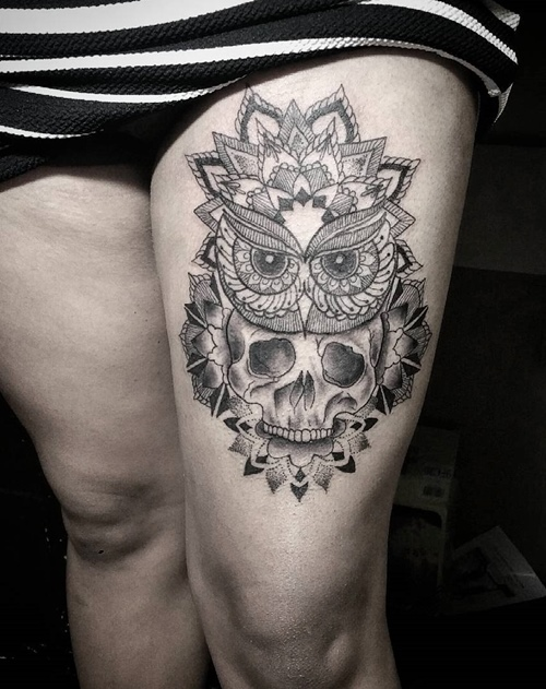 owl-and-skull tattoo-33