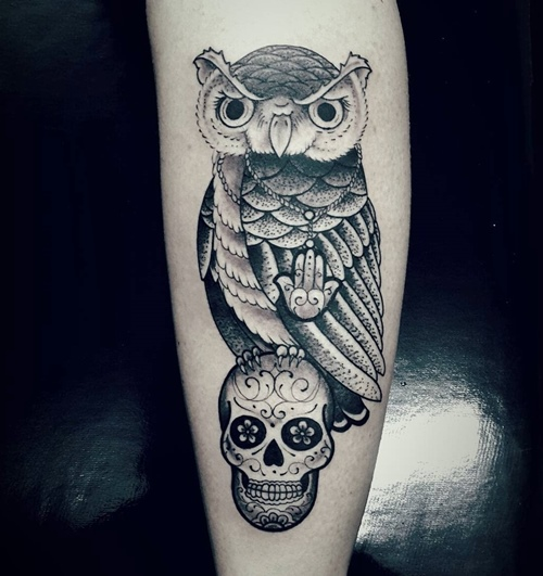 owl-and-skull tattoo-35