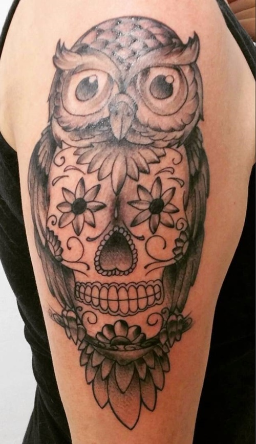 owl-and-skull tattoo-38