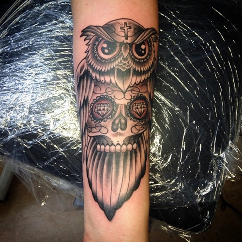 owl-and-skull tattoo-42