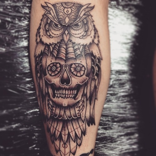 50 owl and skull tattoo ideas for your first ink for Skull tattoos meaning
