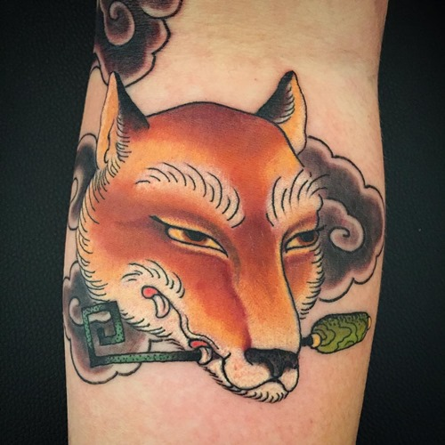 red-fox-head-tattoo-design-on-arm