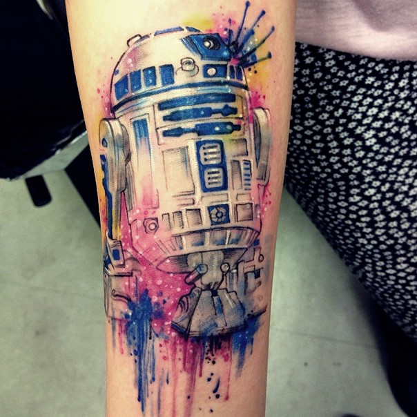 star wars tattoo r2d2-2