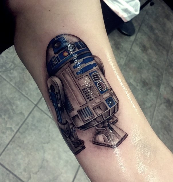 star wars tattoo r2d2-9