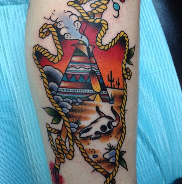 traditional indian arrowhead tattoo designs
