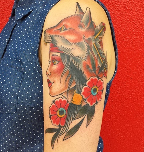 traditional-lady-fox-tattoo-designs