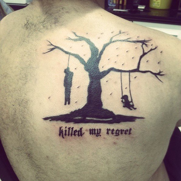 45 insanely gorgeous tree tattoos on back rh spiritustattoo com half dead tree tattoos dead tree tattoos designs