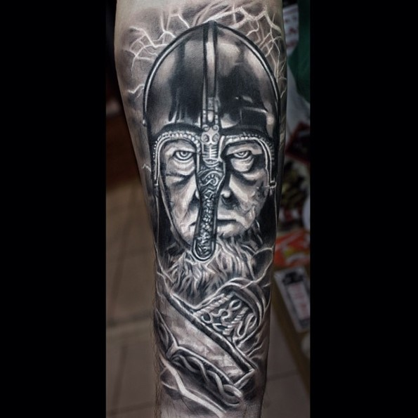 viking-warrior-tattoo-designs