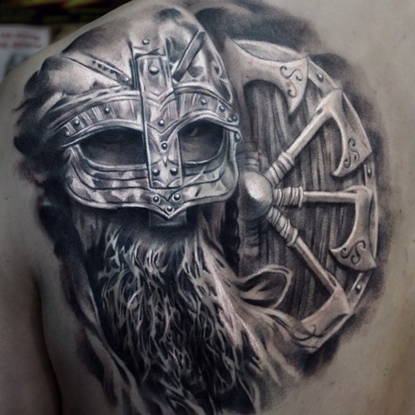 100 warrior tattoo designs to get motivated for Viking tattoo designs