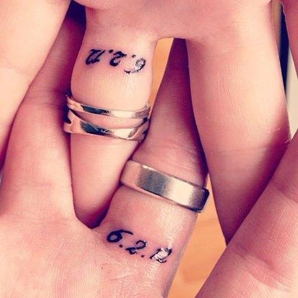 wedding date tattoo on ring finger