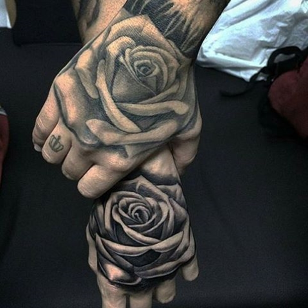 42 totally awesome black rose tattoo that will inspire you to get inked. Black Bedroom Furniture Sets. Home Design Ideas