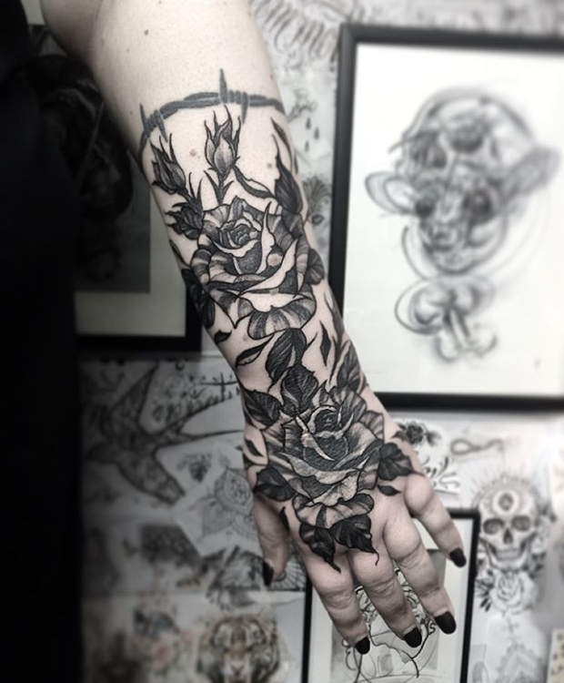 Black Rose Tattoo-6