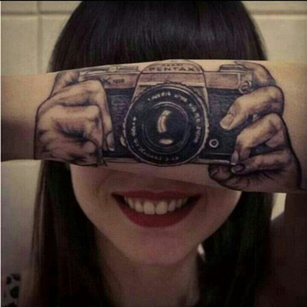 Tattoo Designs Camera: 43 Amazing 3D Tattoo Designs For Girls