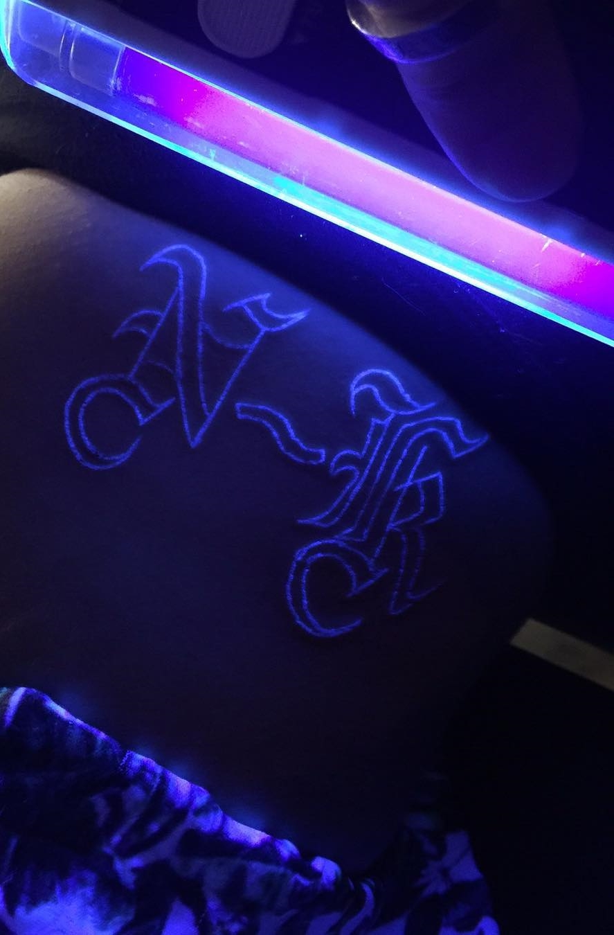 initial uv ink tattoos