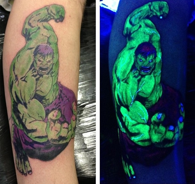 uv hulk tattoo