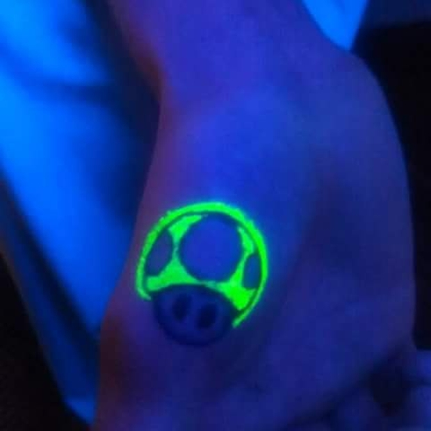 uv light tattoo for gamer