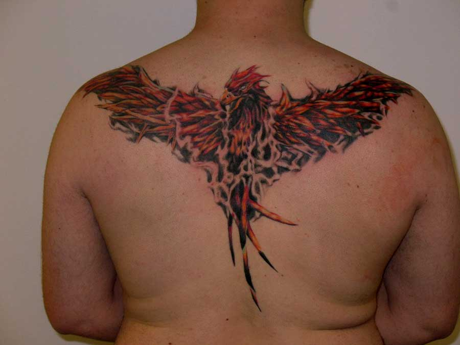phoenix-back-tattoos