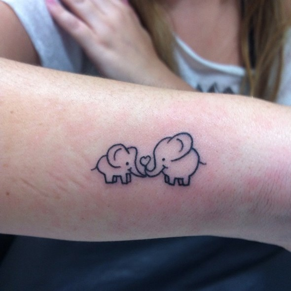 Cute and Tiny Elephant Tattoos
