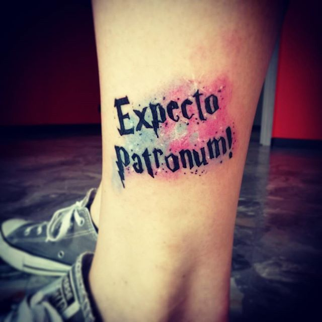 Harry potter expecto patronum tattoo 9