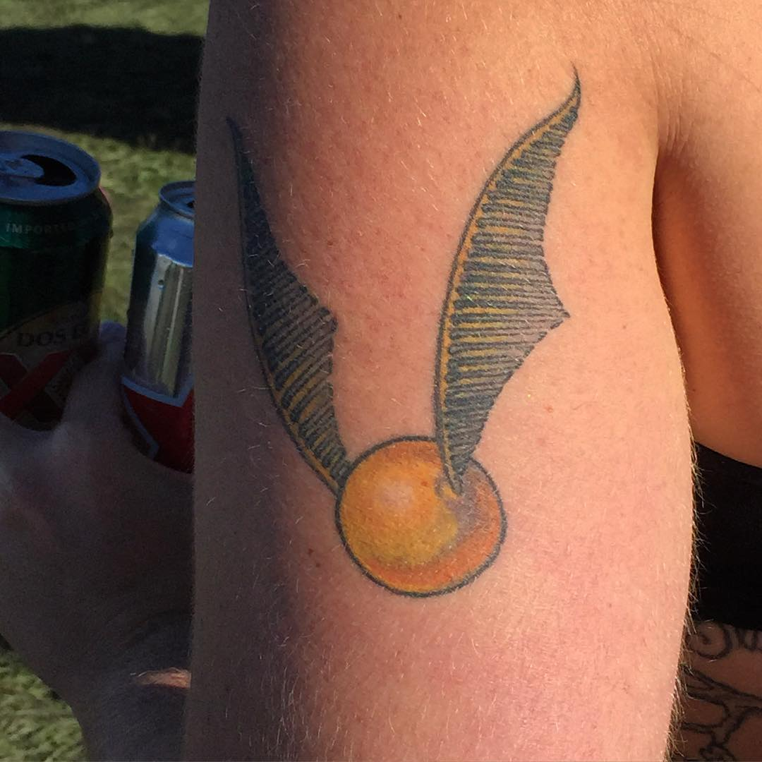 Harry potter golden snitch tattoos 15
