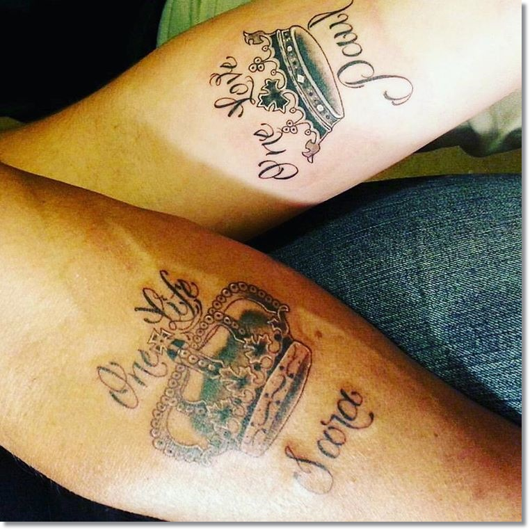 Small Crown Tattoos for Couples 1