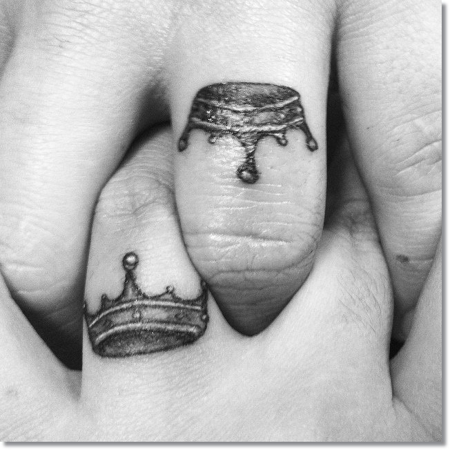 Small Crown Tattoos for Couples 2
