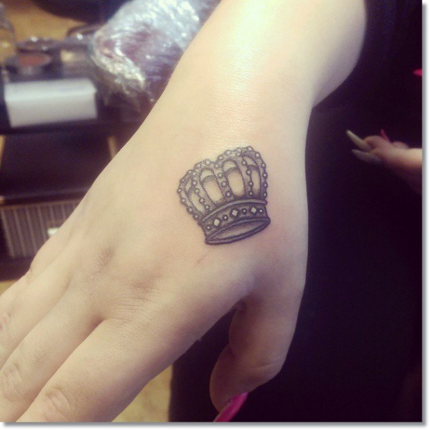 Small Crown Tattoos for Women 1