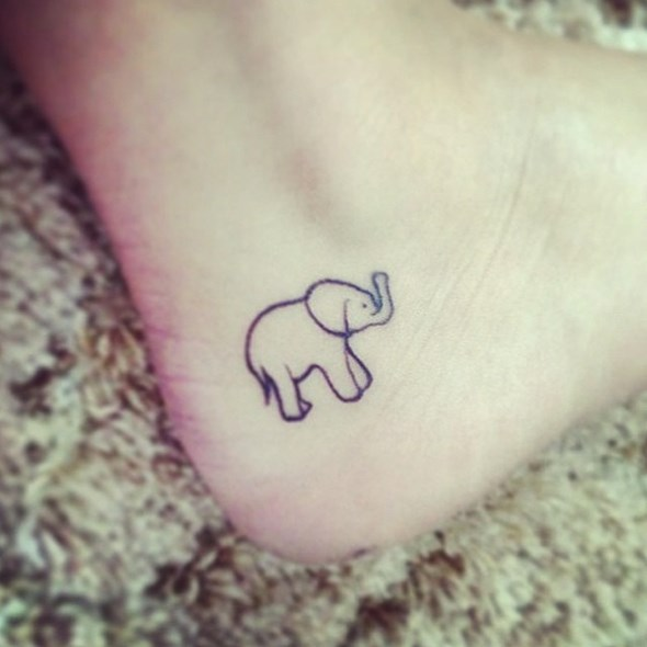 baby elephant angkle tattoos