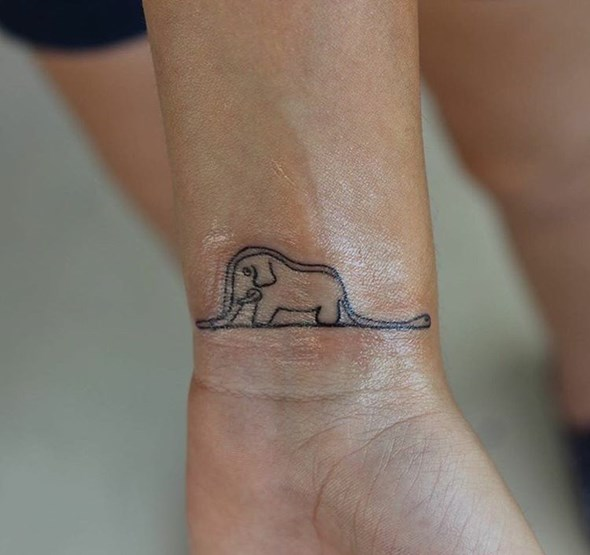 baby elephant tattoo designs on wrist