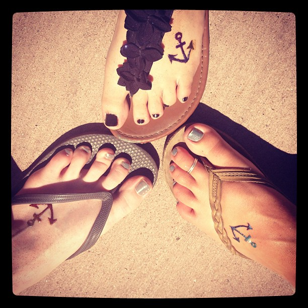 best friend anchor tattoos