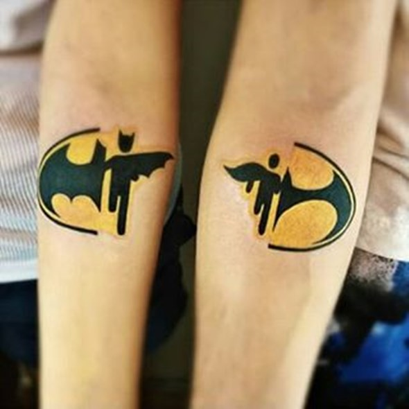 brother and sister batman tattoos