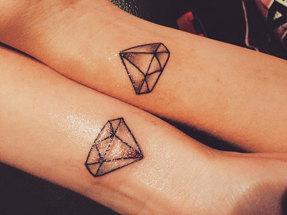 brother and sister diamond tattoo