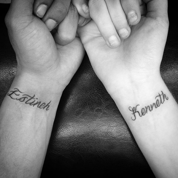 brother and sister name tattoo