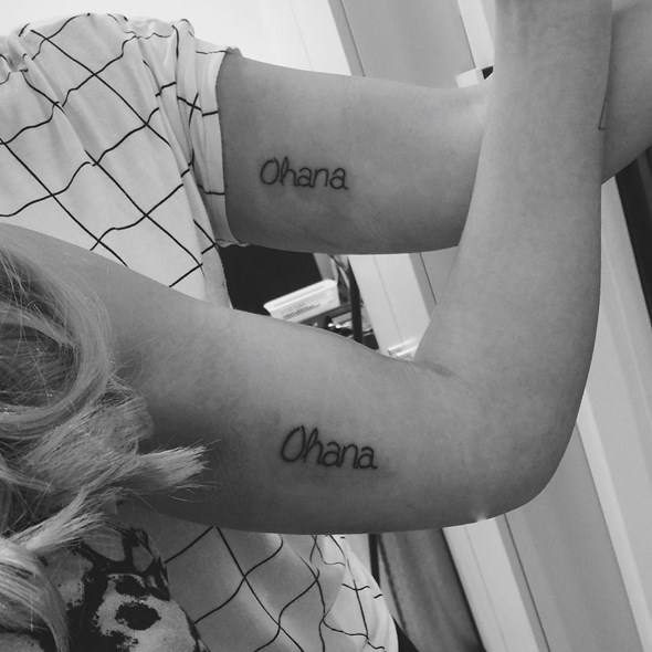 brother and sister ohana tattoo designs