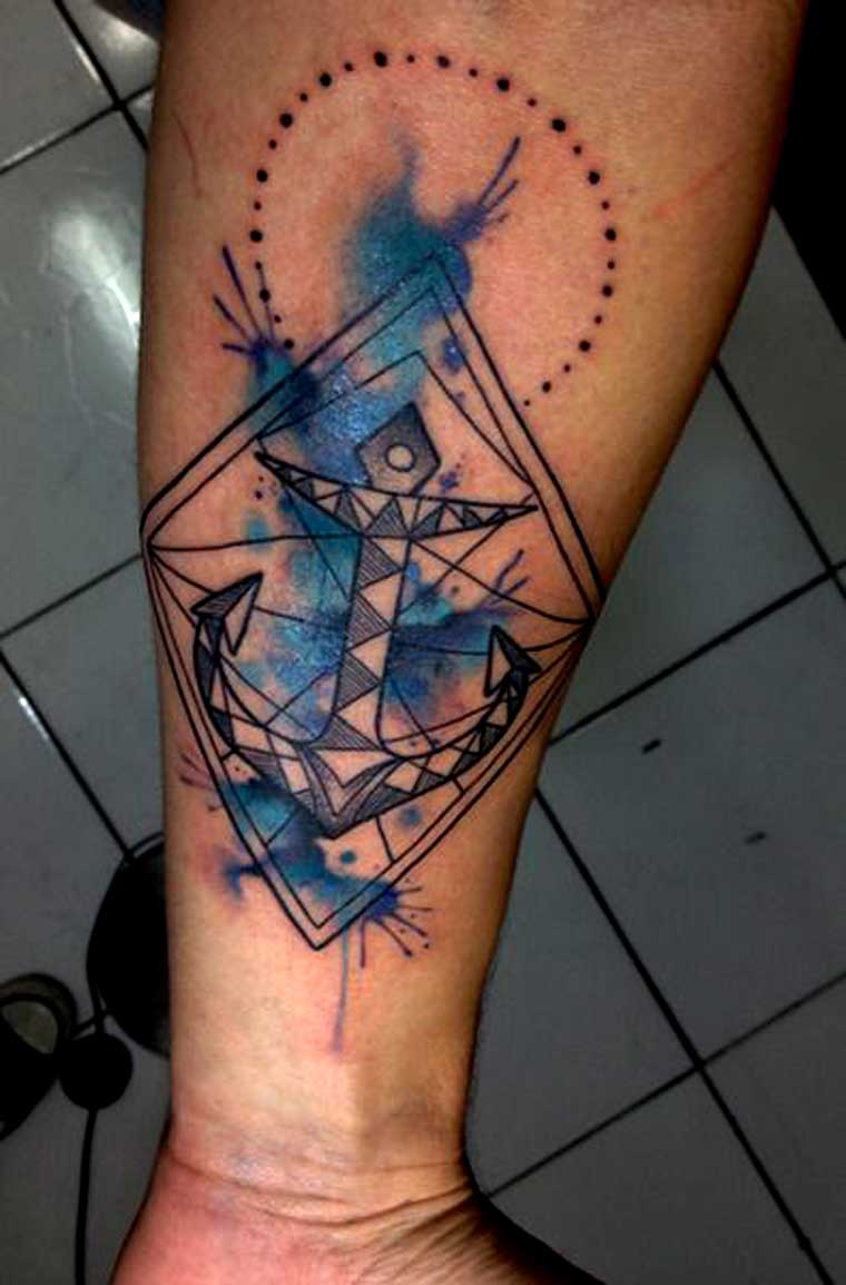 geometric-anchor-tattoos