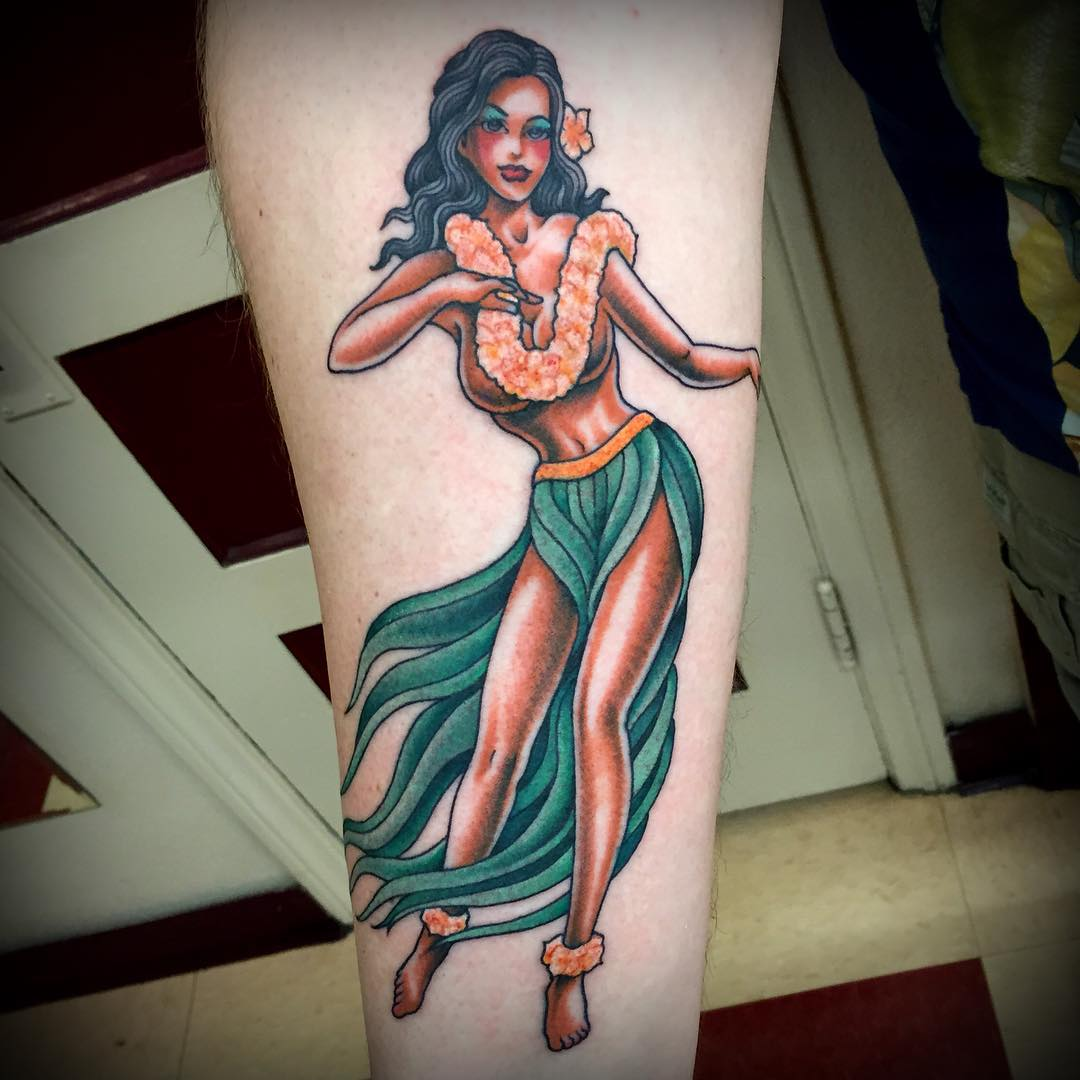 hula dance Hawaiian tattoo