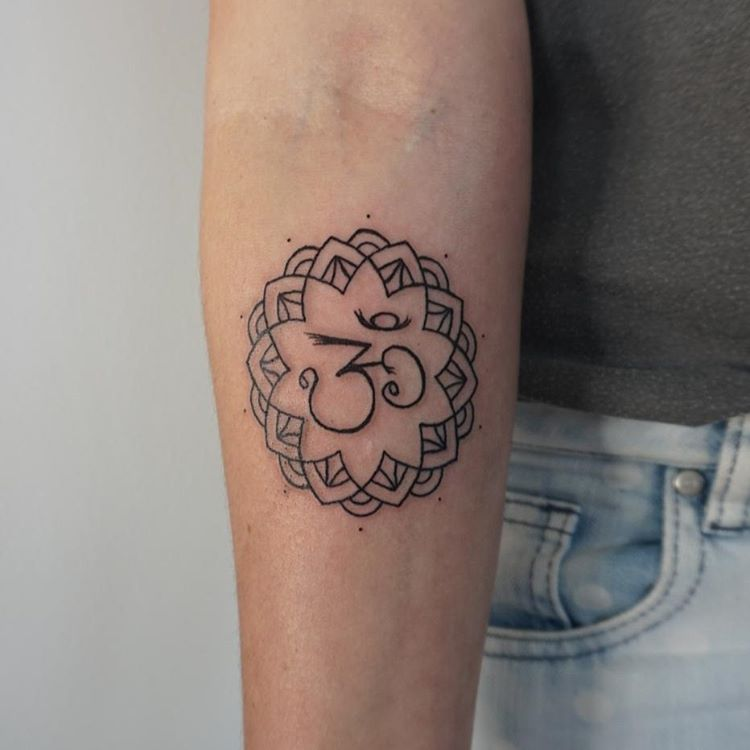 mandala tattoo with Om symbol