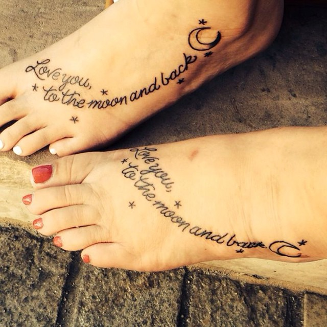 mom and daughter tattoo best friend