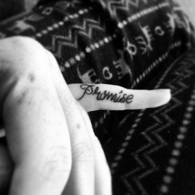 pinky promise tattoo example